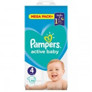 Scutece PAMPERS 81680869 Active Baby 4 Mega Box 132 buc