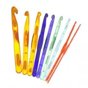 ELECTROPRIME® 9X Mixed Plastic Knit Knitting Needles Crochet Weave Craft Hook Needle Tool New