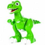 Jucarie interactiva Malplay Robot Dinozaur cu functii telecomanda cu infrarosu senzori de miscare si muzica 24 cm
