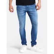 Guess Jeans Chino-Model Skinny Slijtplekken - Blauw - Size: 36