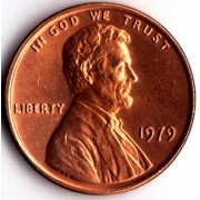 1979 P Lincoln Memorial Cent 19.05 Mm (0.750 In), 3.11 G (0.10 Troy Oz)