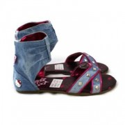 Sandale Hello Kitty fetite model gladiator denim
