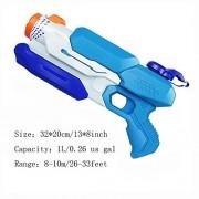 HomDSim Ultra-Large Capacity Water Gun Squirt Gun Blaster Toy Soaker for Summer Best Fun Game Happy Kid Children Long Range Model H