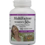Natural Factors - Women's 50+ Multifactors Vitamin & Mineral Formula 90 Vegetarian Capsules