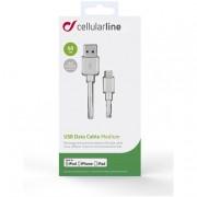 Cellular Line USB DATA CABLE MEDIUM - Lightning Cavo USB da 60cm Bianco