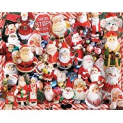 White Mountain Puzzles Crazy Santas - 1000 Piece Jigsaw Puzzle