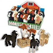 Fiesta Toy 8 Inch Standing Plush Horses Makes Neighing Sounds Pony Stuffed Animals (12 Horse Set)