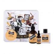 PRORASO Wood & Spice Beard Wash sada šampon na vousy 200 ml + balzám na vousy 100 ml + olej na vousy 30 ml + plechová dóza pro muže