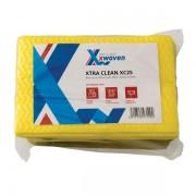 Lavete profesionale, Xtra Clean XC25, 25x42 cm, galben, 25 buc/set