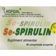 Hofigal Se-spirulin (40 Comprimate)