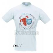 Tricou Petissimo Original de bărbați - alb M