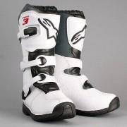 Alpinestars Stivali Moto Cross Tech 3 Bambino White Black