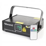 Beamz Mimas Show-Laser 50mW verde 9-DMX Master/slave sensible a la música mando a distancia (152.809)