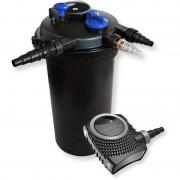 WILTEC Kit de Filtration de Bassin à pression 30000l Stérilisateur UVC 18W 70W