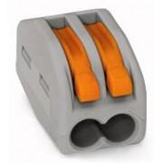 Universal Wago Verbindungsklemme 2x0,08-4qmm grau 222-412
