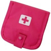 Arura Folding Portable Emergency Medicine First Aid Pouch(Pink)