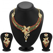 Sukkhi Briliant Gold Plated Meenakari AD Necklace Set for Women
