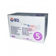 Becton, Dickinson And Company Bd Thinwall 5mm 31g - 100 Aghi Sterili Per Penna Da Insulina