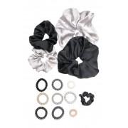 Berry Gemstone Coil Scrunchie Set BLACK