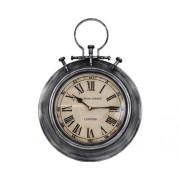 Ceas de perete London metal argintiu 32,5x44,5 cm