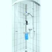 Raft telescopic de colt pentru baie