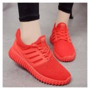 E-Thinker Tenis Zapatos Deportivos Ocio Mujer Rojo