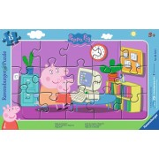 Puzzle Ravensburger - Purcelusa Peppa, 15 piese (06123)