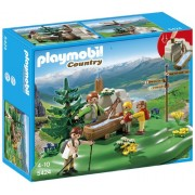 PLAYMOBIL Backpacker at Family Mountain Spring Playset