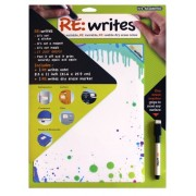 Its Academic Re:Writes 8.5 X 11 Inches, Assorted Fashion Designs, Design May Vary, 1 Note And 1 Dry Erase Marker (07071)