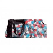 Chele and Maye Black Abstract Nappy Bag