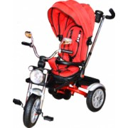 Tricicleta cu maner/scaun rabatabil/muzica/roti cauciuc