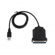 USB A Puerto Paralelo LPT1 36 Pasadores Escáner Impresora IEEE 1284 Cable Adaptador Negro