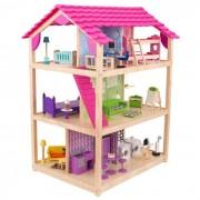 KidKraft Кукольный домик Самый роскошный (So Chic) с мебелью 45 элементов, колесики