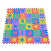 36Pcs Alphabet Number Jigsaw Puzzle Mat Soft EVA Children Playing Crawling Pad Square Floor Foam Mat Nursery Room Kindergarten Floor Decoration Baby Toddler Intellectual Toys