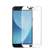 Geam Folie Sticla Protectie Display Samsung Galaxy J3 J330 2017 Acoperire Completa Alb 4D