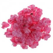 "ELECTROPRIME® 50x Rose Heads Artificial Silk 4"" Flower Head Hair Clip Wedding Craft Pink"