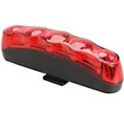 Futaba Back Strip Lamp Waterproof Anti-shock Bicycle 5 LED Rear Break Light(Red)