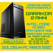COMPUTER ASSEMBLATO GOLDSUN ARES 550 DESKTOP INTEL CORE I3-550 4GB HD500GB WiFi WIN10