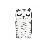 Miliboo Tapis enfant forme chat en coton 80x150 cm CHARLI