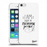 Műanyag átlátszó tok az alábbi mobiltelefonokra Apple iPhone 5/5S/SE - I am not a morning person