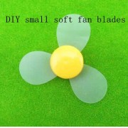 Generic 72mm DIY small three-bladed propeller blades soft fan blade model material model of creative production technology