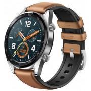 """Smartwatch Huawei Watch GT Fortuna-B19V, Amoled 1.39"""", 16MB RAM, 128MB Flash, Bluetooth (Argintiu/Maro)"""