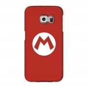 Nintendo Funda móvil Nintendo Mario Logo para iPhone y Android - Samsung S6 Edge Plus - Carcasa rígida - Brillante