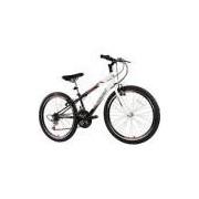 Bicicleta Track Axess Aro 24 18 Aço Marchas - Branco/Preto