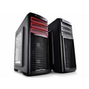 "Carcasa DeepCool Middle-TowerE-ATX, 1* 120mm fan (inclus), tempered glass, front audio & 1x USB 3.0,2x USB 2.0, black ""E-SHIELD"""