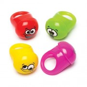 Funny Faces Flashing Rings (Pack of 4)