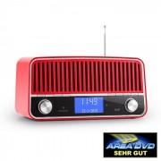 Nizza Radio Bluetooth DAB+ Retrò 2.1 Subwoofer Rossa