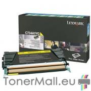 Тонер касета LEXMARK C734A1YG (Yellow)