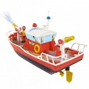 Barca Dickie Toys Fireman Sam Titan cu telecomanda si figurina Sam