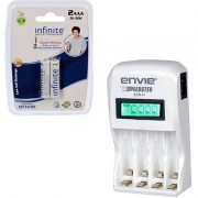 Envie Speedster ECR-11 2xAAA 800 Ni-MH rechargeable Camera Battery Charger (White)